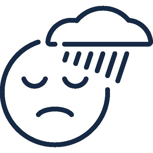 Icon Traurigkeit