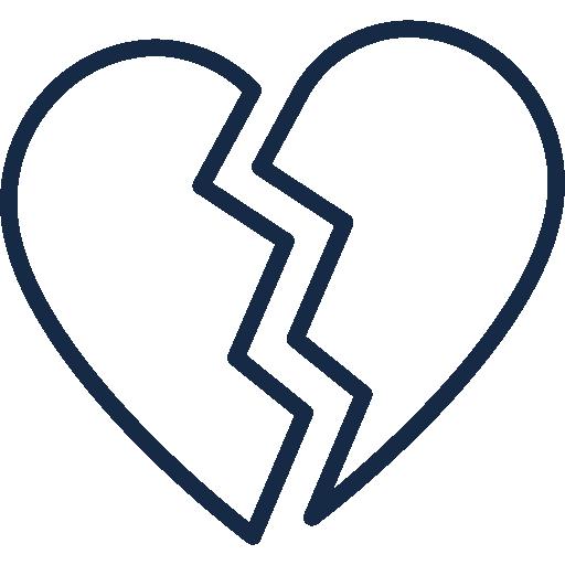 Icon gebrochenes Herz